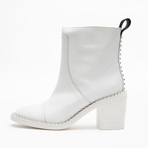 ZADIG & VOLTAIRE CROME WHITE BOOTIES